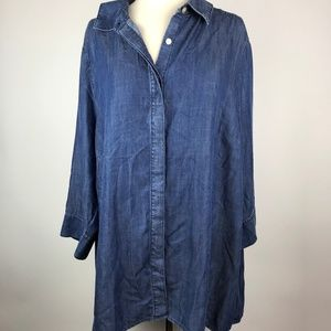 Foxcroft 100% Tencel Chambray Denim Shirt